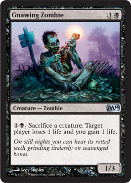 Gnawing Zombie | Magic: The Gathering Card