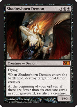 Shadowborn Demon | Magic: The Gathering Card