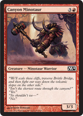 Canyon Minotaur | Magic: The Gathering Card