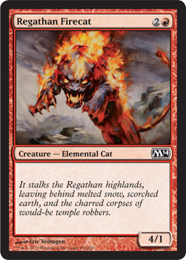 Regathan Firecat | Magic: The Gathering Card
