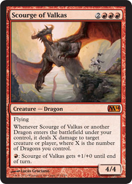 Foil Scourge of Valkas from Magic 2014