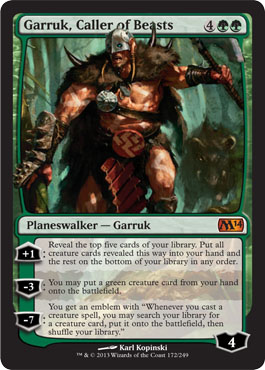 Garruk, Caller of Beasts in Magic 2014 Core Set