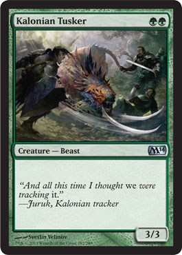Kalonian Tusker | Magic: The Gathering Card
