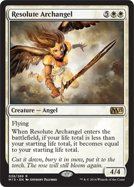 Resolute Archangel | Magic: The Gathering Card