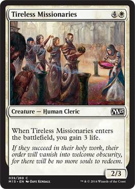 Tireless Missionaries | Magic: The Gathering Card