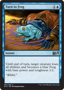 Turn to Frog | Magic: The Gathering Card