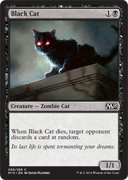 Black Cat | Magic: The Gathering Card