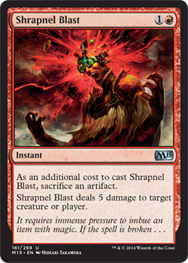 Shrapnel Blast | Magic: The Gathering Card
