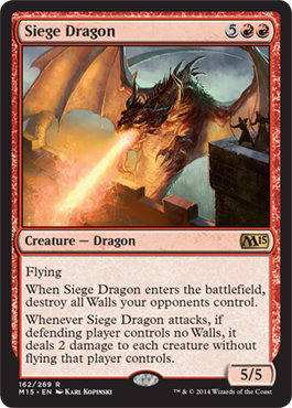 Siege Dragon | Magic: The Gathering Card