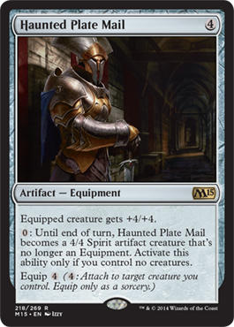 Haunted Plate Mail | Magic: The Gathering Card