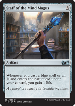 Staff of the Mind Magus | Magic: The Gathering Card