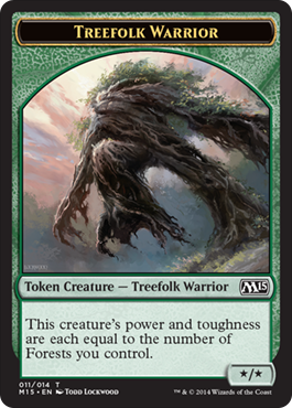 Treefolk Warrior Token | Magic: The Gathering Card