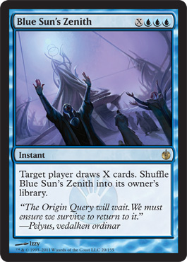 Blue Sun's Zenith | Magic: The Gathering Card