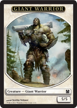 Giant Warrior Token in Modern Masters