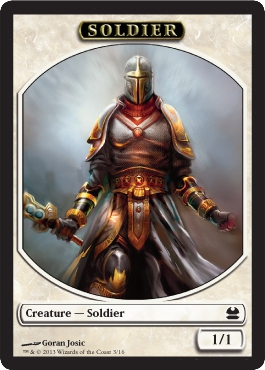 Soldier Token in Modern Masters
