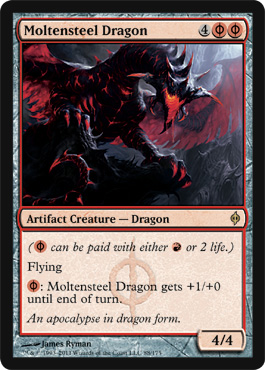 Moltensteel Dragon | Magic: The Gathering Card