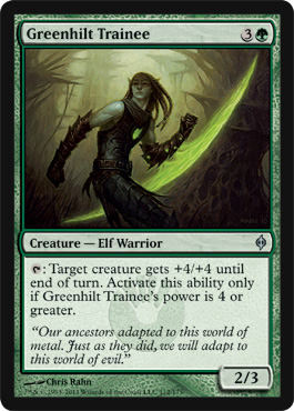 Greenhilt Trainee | New Phyrexia | Magic: The Gathering at ... Planeswalker Activated Ability