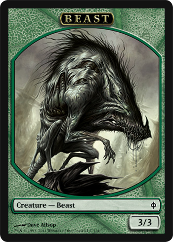 Beast Token | Magic: The Gathering Card