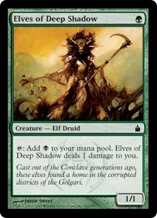 Elves of Deep Shadow | Magic: The Gathering Card