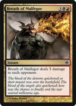 Breath of Malfegor | Magic: The Gathering Card