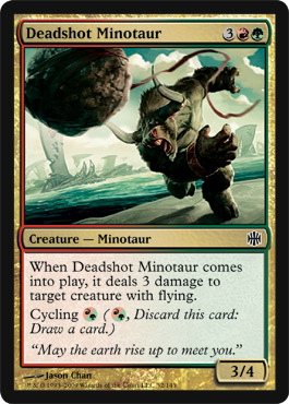 Deadshot Minotaur | Magic: The Gathering Card