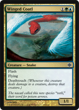 Winged Coatl | Magic: The Gathering Card