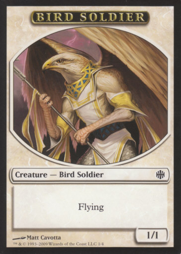 Bird Soldier Token | Magic: The Gathering Card