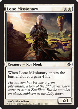 Lone Missionary | Magic: The Gathering Card