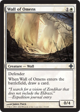 Wall of Omens | Magic: The Gathering Card