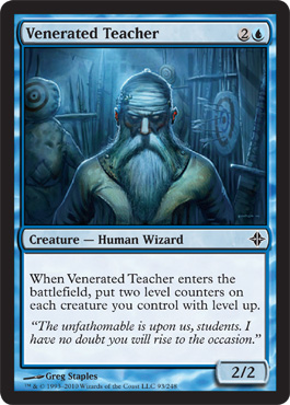 Venerated Teacher | Magic: The Gathering Card