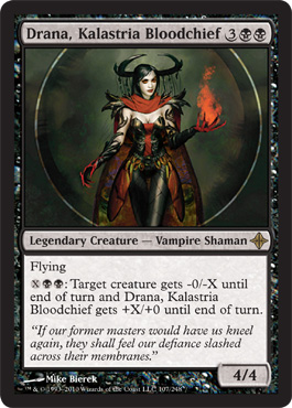 Drana, Kalastria Bloodchief | Magic: The Gathering Card