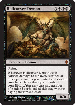 Hellcarver Demon | Magic: The Gathering Card