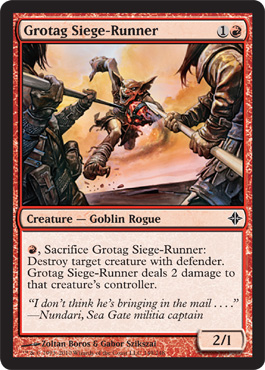 Grotag Siege-Runner | Magic: The Gathering Card