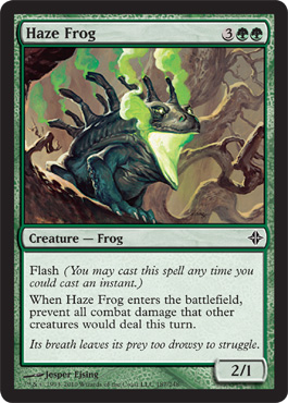 Haze Frog | Magic: The Gathering Card