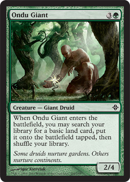 Ondu Giant | Magic: The Gathering Card