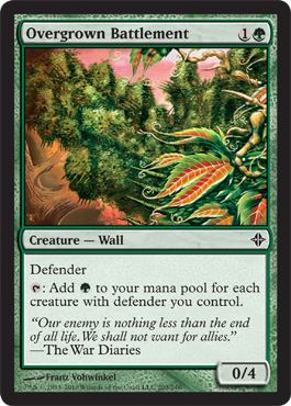 Overgrown Battlement | Magic: The Gathering Card