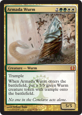 Armada Wurm | Magic: The Gathering Card