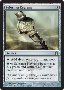 Selesnya Keyrune | Magic: The Gathering Card