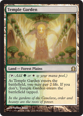 Temple Garden | Magic: The Gathering Card
