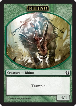 Rhino Token | Magic: The Gathering Card