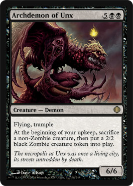 Archdemon of Unx | Magic: The Gathering Card