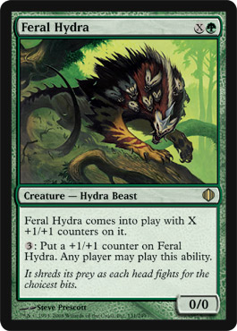 Feral Hydra | Magic: The Gathering Card