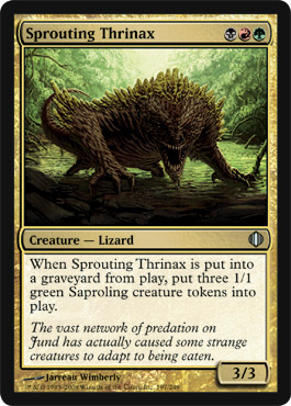 Sprouting Thrinax | Magic: The Gathering Card
