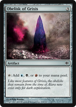 Obelisk of Grixis | Magic: The Gathering Card