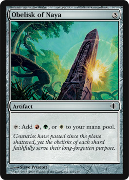 Obelisk of Naya | Magic: The Gathering Card
