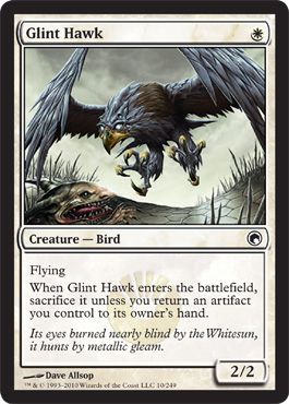 Glint Hawk | Magic: The Gathering Card