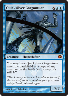 Quicksilver Gargantuan | Magic: The Gathering Card