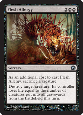 Flesh Allergy | Magic: The Gathering Card