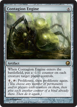 Contagion Engine | Magic: The Gathering Card