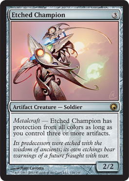 Etched Champion | Magic: The Gathering Card